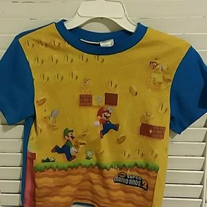 Boys Super Mario Bros.Pajama Shirt Size 10-12